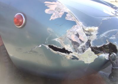 Aston martin fibre glass body repair