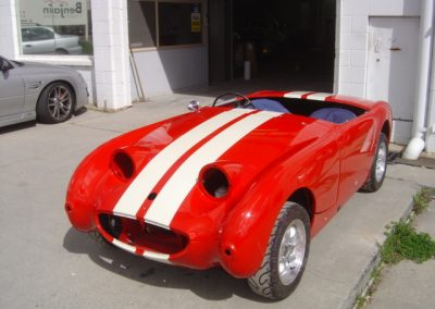 Austin Healey custom paint job candy red