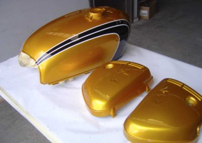 bike tank custom paint job